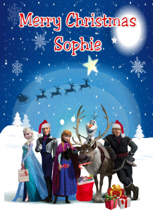 Personalised Frozen Christmas Card